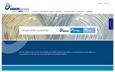 New Webdesign VDKM Germany